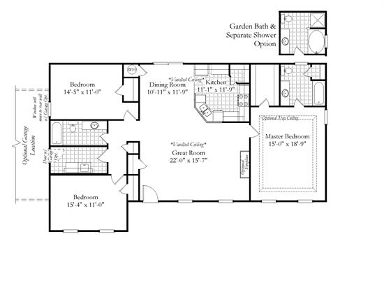 Build on your lot for Calabash cottage floor plan